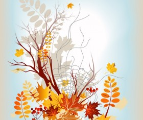 Refreshing autumn background illustration vector 02
