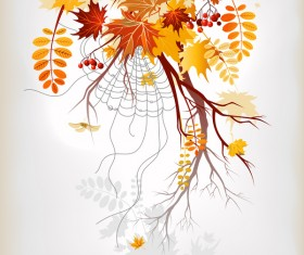 Refreshing autumn background illustration vector 03