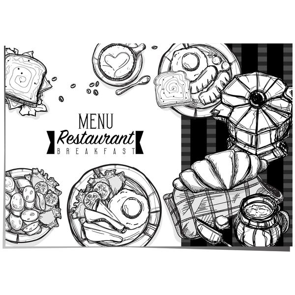 Restaurant breakfast menu template vector