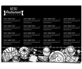 Restawrant breakfast menu with price list vector design 02