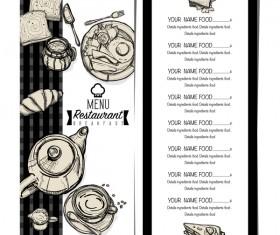 Restawrant breakfast menu with price list vector design 04