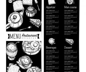 Restawrant breakfast menu with price list vector design 05