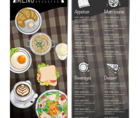 Restawrant breakfast menu with price list vector design 07