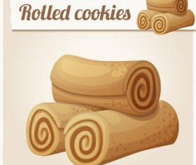 Rolled cookies vector