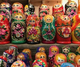 Russia Matryoshka Stock Photo