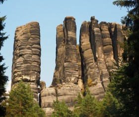 Sandstone stone mountain Stock Photo