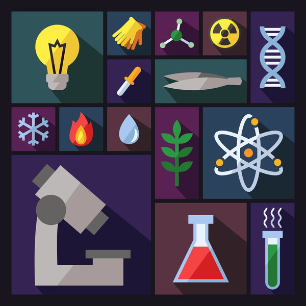Science background vector design