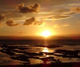 Scotland West Coast Sunrise Stock Photo