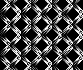 Seamless black with white art pattern vector 01