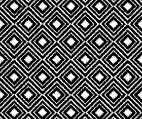 Seamless black with white art pattern vector 02