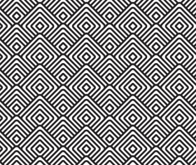 Seamless black with white art pattern vector 03