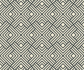 Seamless black with white art pattern vector 04