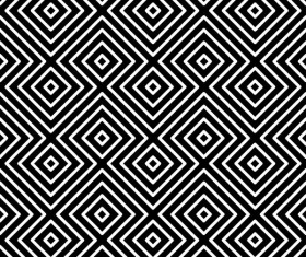 Seamless black with white art pattern vector 05