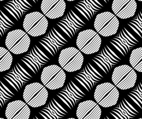 Seamless black with white art pattern vector 10