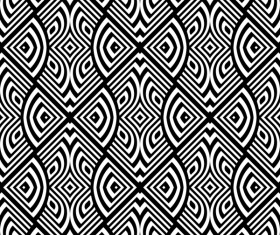 Seamless black with white art pattern vector 11