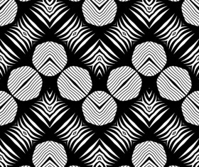 Seamless black with white art pattern vector 13