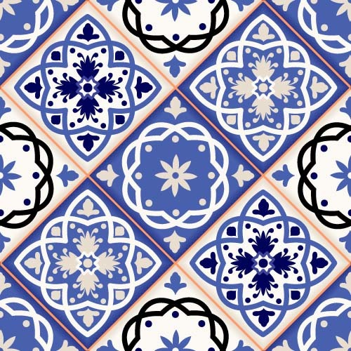 Seamless classical decorative pattern vector 05