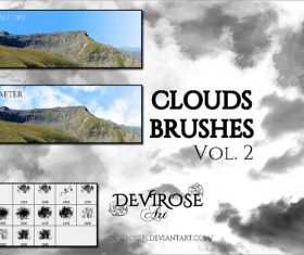 Set of Cloud Photoshop Brushes