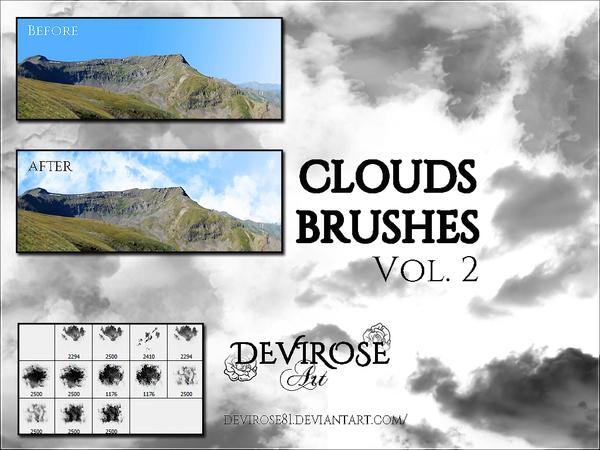 Set of Cloud Photoshop Brushes