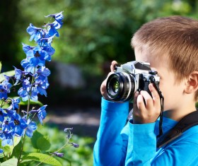 Small photographer Stock Photo