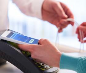 Smartphone NFC technology shopping Stock Photo 01