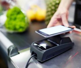 Smartphone NFC technology shopping Stock Photo 02