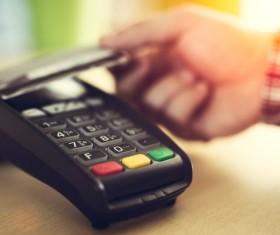 Smartphone NFC technology shopping Stock Photo 03