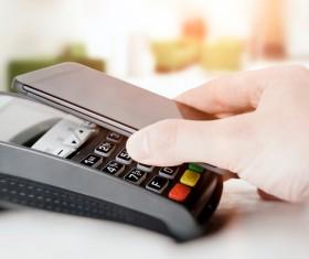 Smartphone NFC technology shopping Stock Photo 04