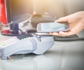 Smartphone NFC technology shopping Stock Photo 05