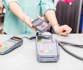 Smartphone NFC technology shopping Stock Photo 06