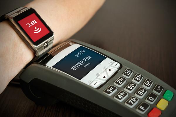 Smartphone NFC technology shopping Stock Photo 07