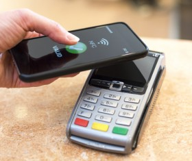 Smartphone NFC technology shopping Stock Photo 09