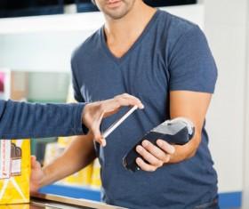 Smartphone NFC technology shopping Stock Photo 10