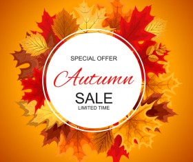Special offer autumn sale template vector set 04