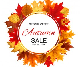 Special offer autumn sale template vector set 10