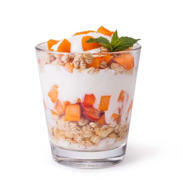 Stock Photo Yogurt with muesli and berries 08