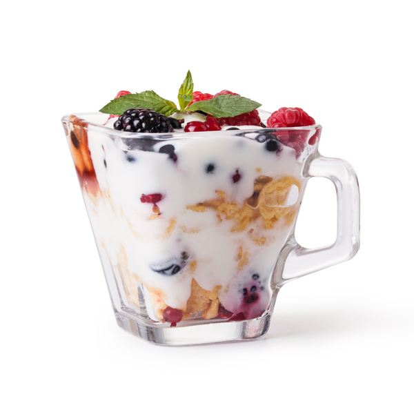 Stock Photo Yogurt with muesli and berries 10