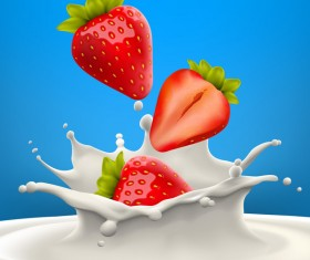 Strawberry High quality vector realistic illustration