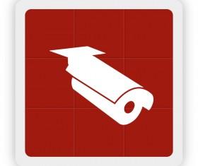 Surveillance icon vector