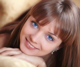 Sweet blue eyes girl Stock Photo