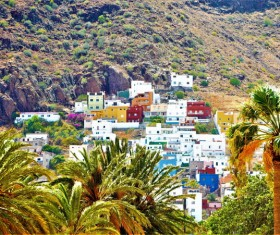 Tenerife town tour Stock Photo