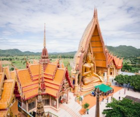 Thai Buddhist temple Stock Photo