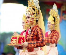 Thai national costumes Stock Photo