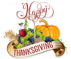 Thanksgiving day labels creative design vector 05