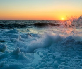 The cold Arctic Ocean Stock Photo 03