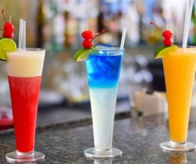 Three colors of cocktails Stock Photo