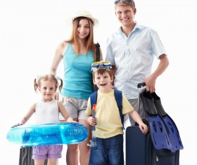 To travel happy family Stock Photo