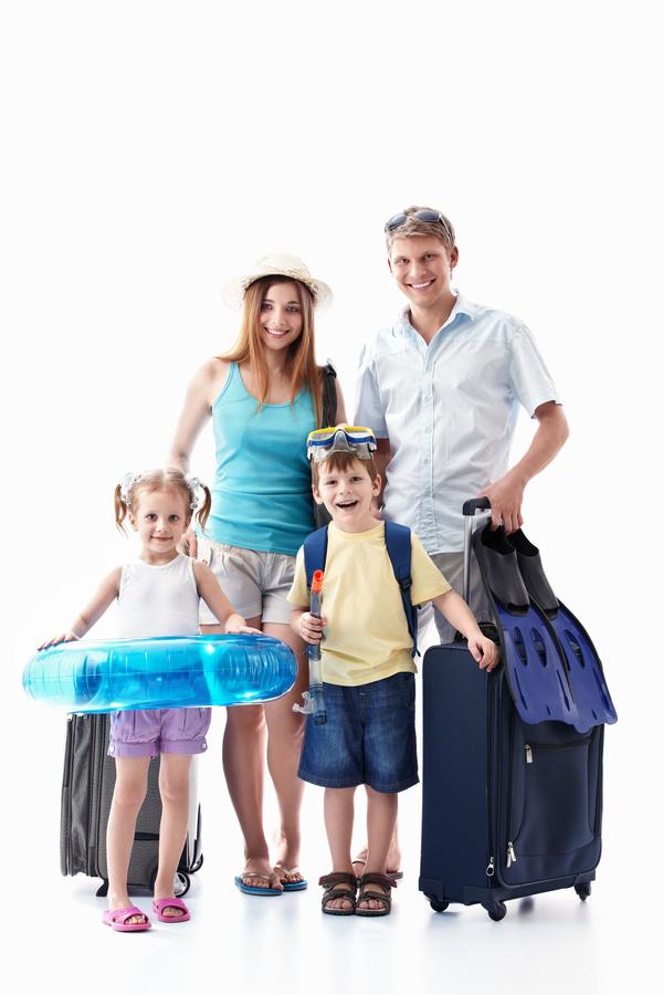 To travel happy family Stock Photo