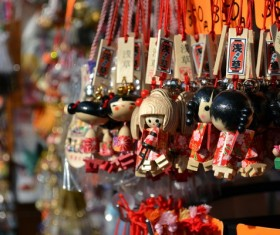 Tourist souvenir ornaments Stock Photo