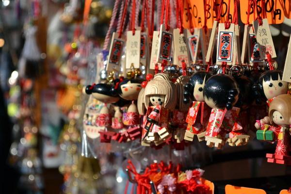 Tourist souvenir ornaments Stock Photo